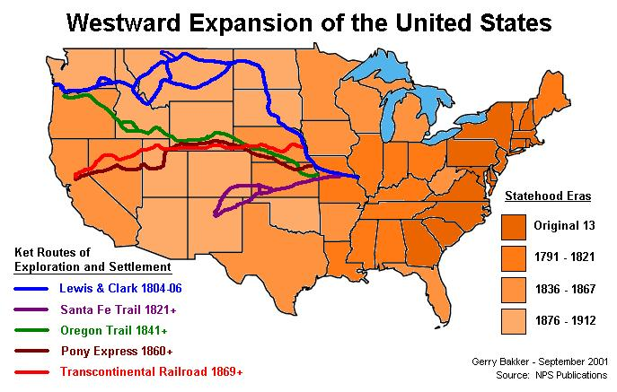 the western expansion of the united states Transcontinental railroad affect western expansion in the united states essay sample thesis: the transcontinental railroad greatly increased westward expansion in the united states of america during the latter half of the nineteenth century.